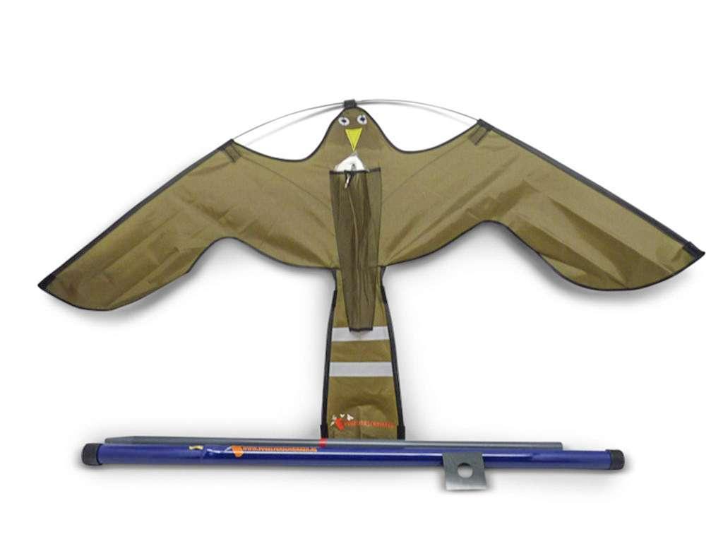 Hawk kite brown 7m